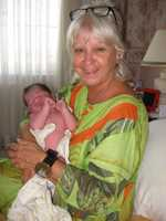Gail with baby