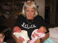 Gail with twins